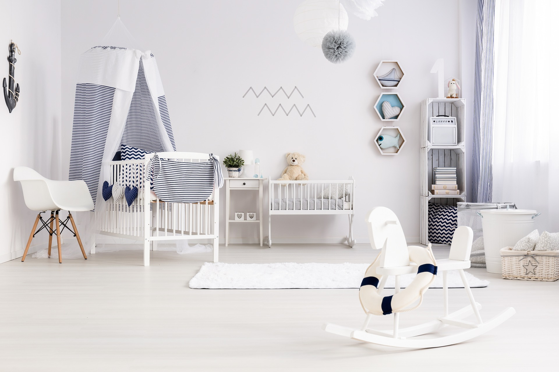 préparer l'arrivée de bébé chambre