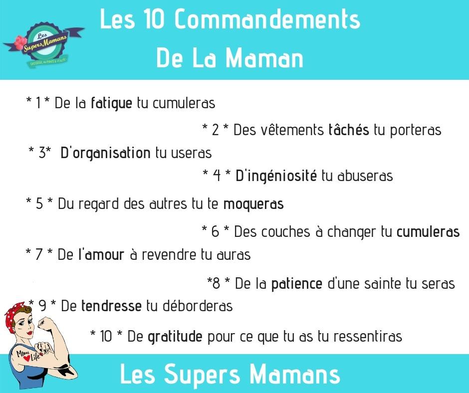 10 commandements de la maman